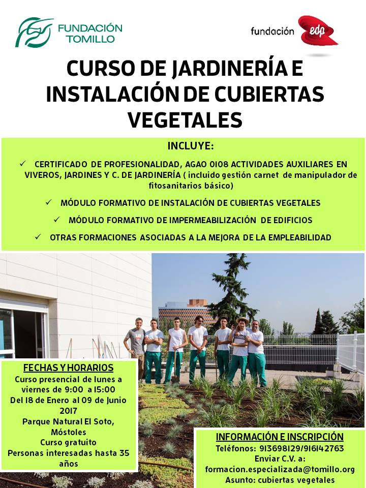 Cubiertas vegetales barrios sostenibles for Aprender jardineria